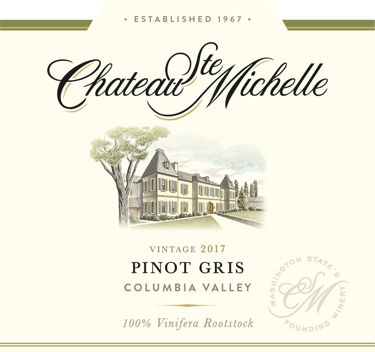 Chateau Ste. Michelle Pinot Gris 2017 Front Label