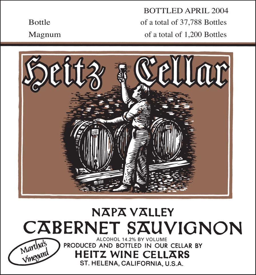 Heitz Cellar Martha's Vineyard Cabernet Sauvignon 2001  Front Label