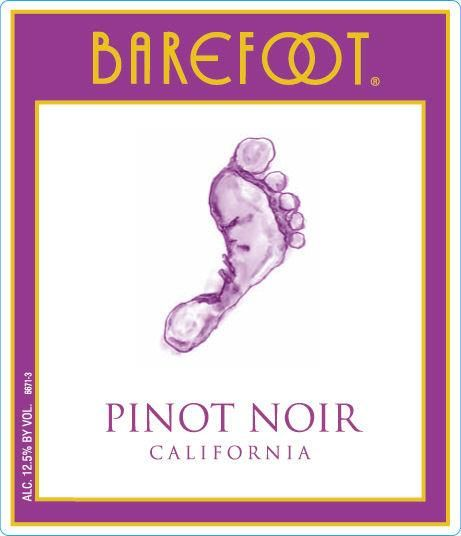 Barefoot Pinot Noir  Front Label