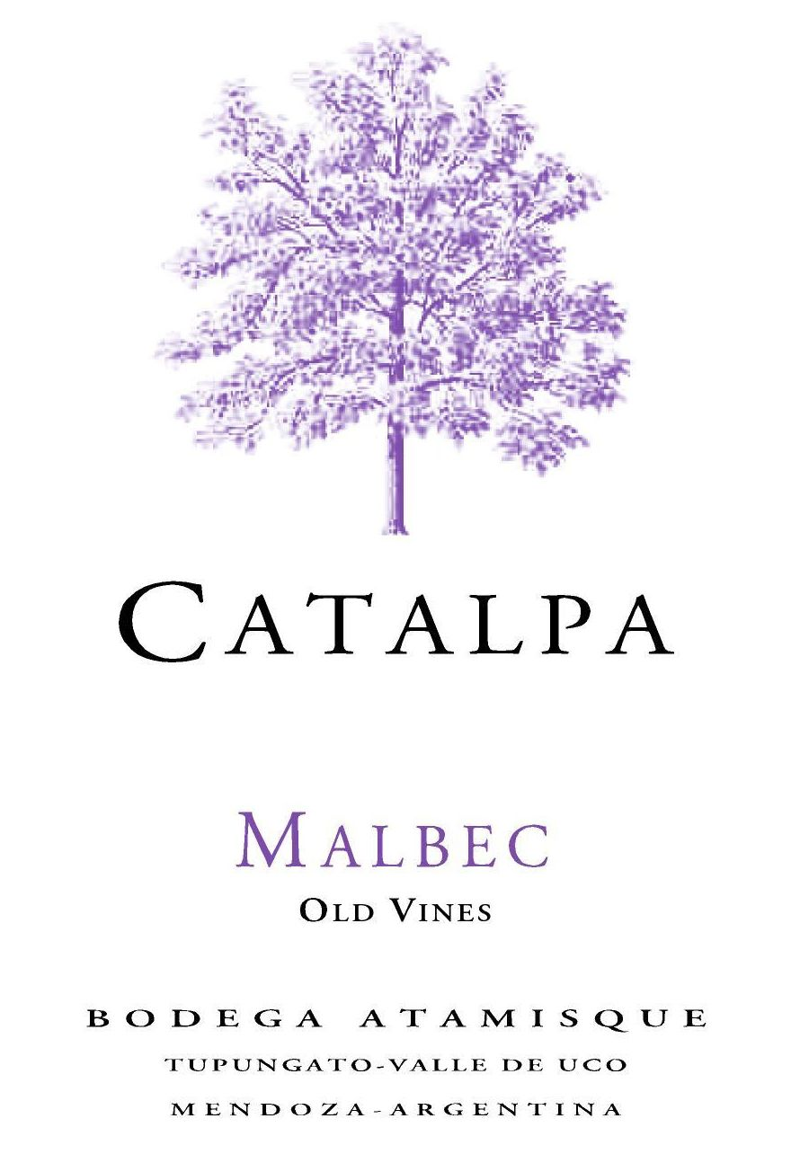 Bodega Atamisque Catalpa Malbec 2018  Front Label
