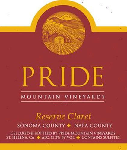 Pride Mountain Vineyards Reserve Claret 2000  Front Label