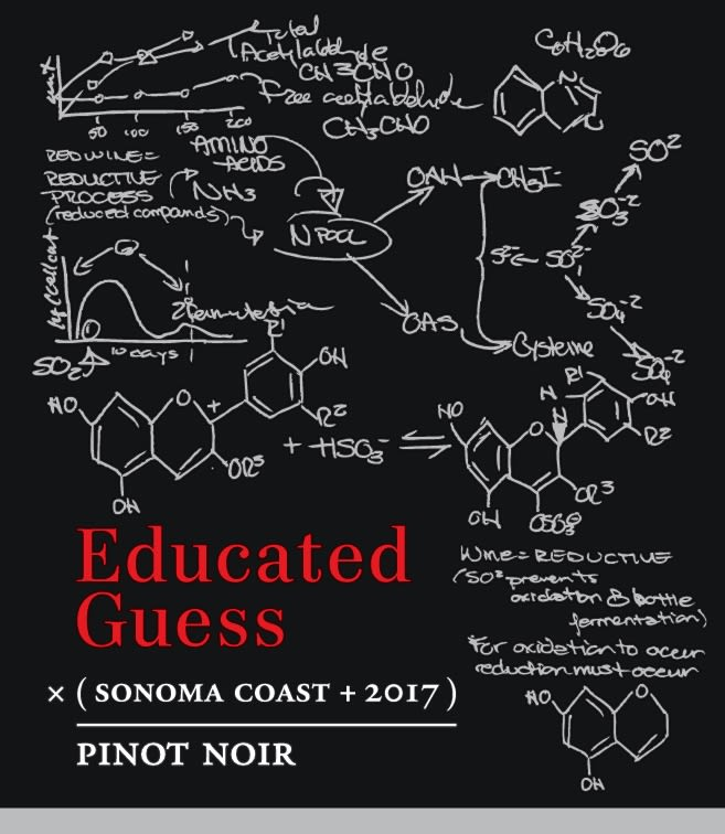 Roots Run Deep Educated Guess Pinot Noir 2017  Front Label