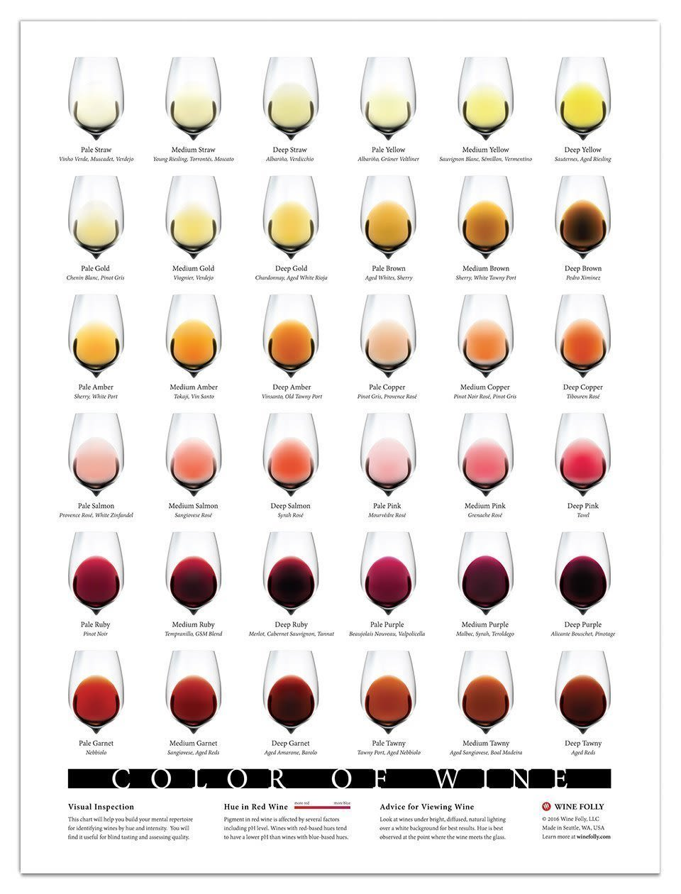 Wine Folly Color of Wine Poster  Gift Product Image