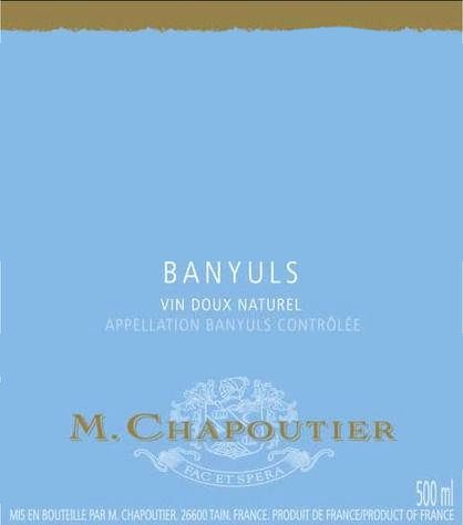 M. Chapoutier Banyuls 1992  Front Label
