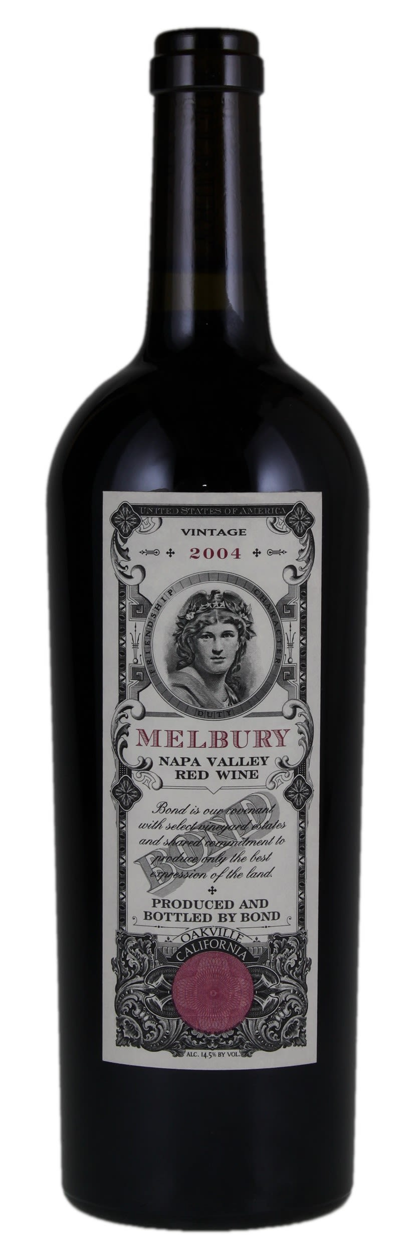 Bond Melbury 2004  Front Bottle Shot