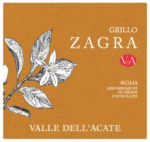 Valle Dell'Acate Zagra Grillo 2019  Front Label
