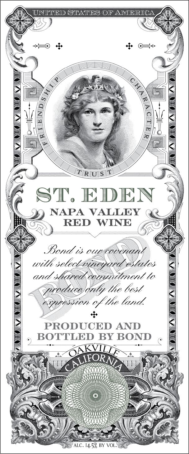 Bond St. Eden 2002  Front Label