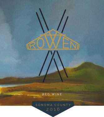 Rowen Red Wine 2016  Front Label
