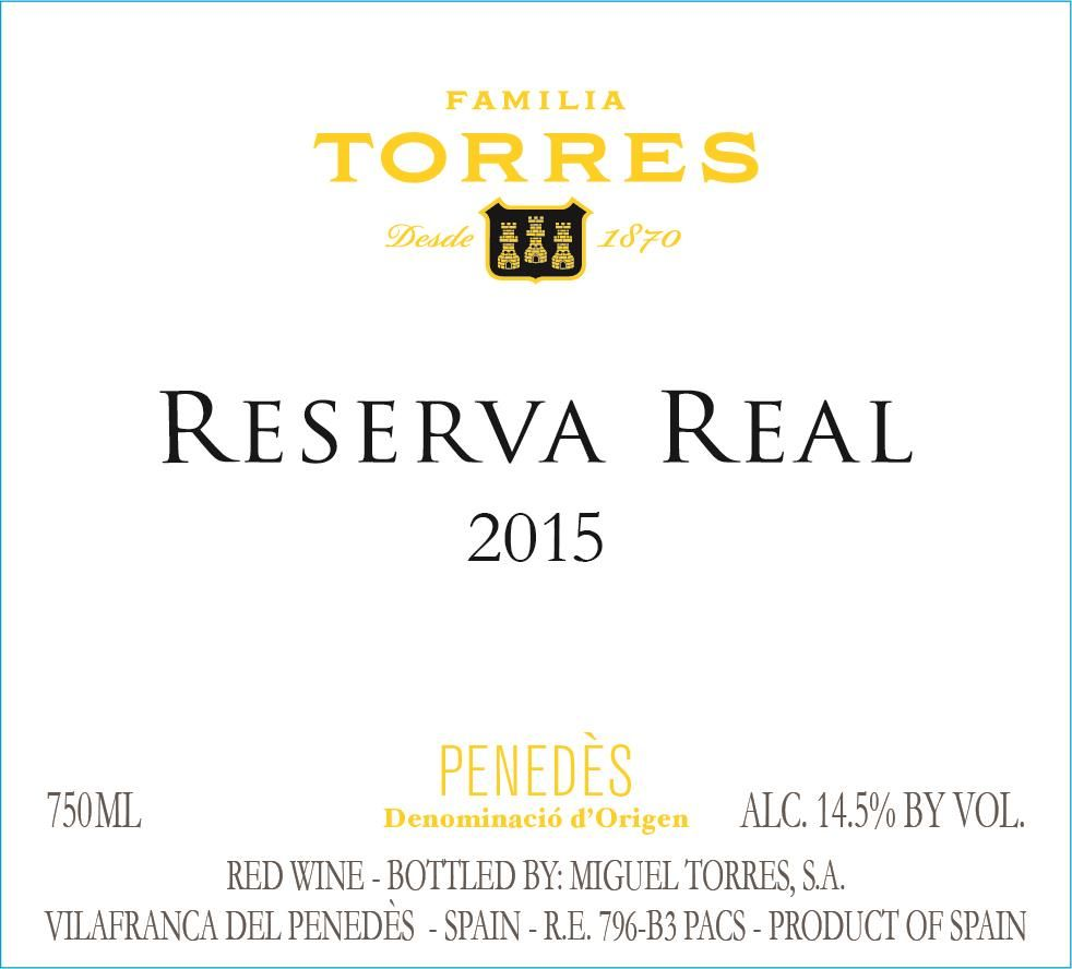 Torres Reserva Real 2015  Front Label