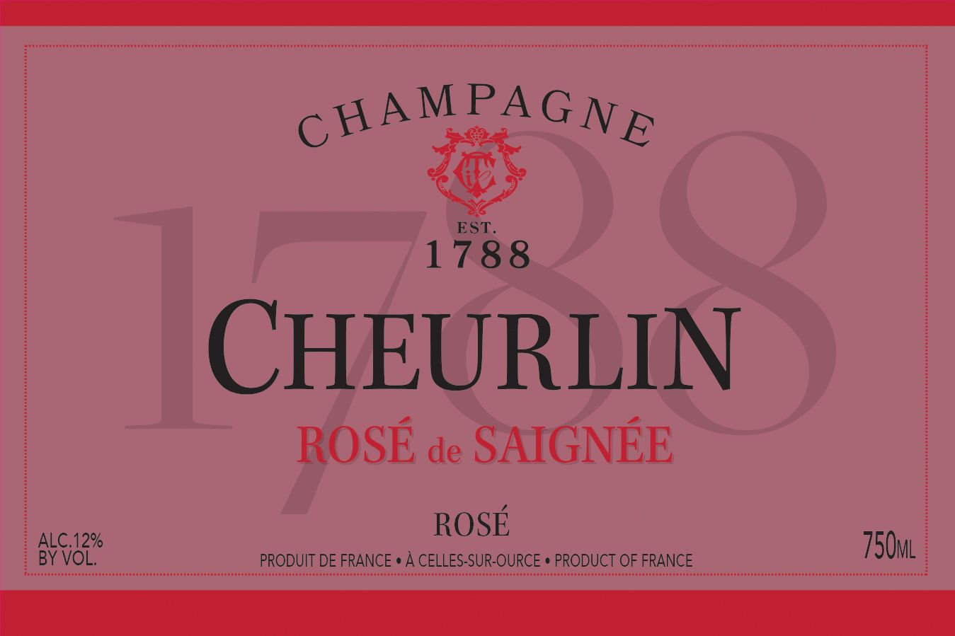 Cheurlin Rose de Saignee Front Label