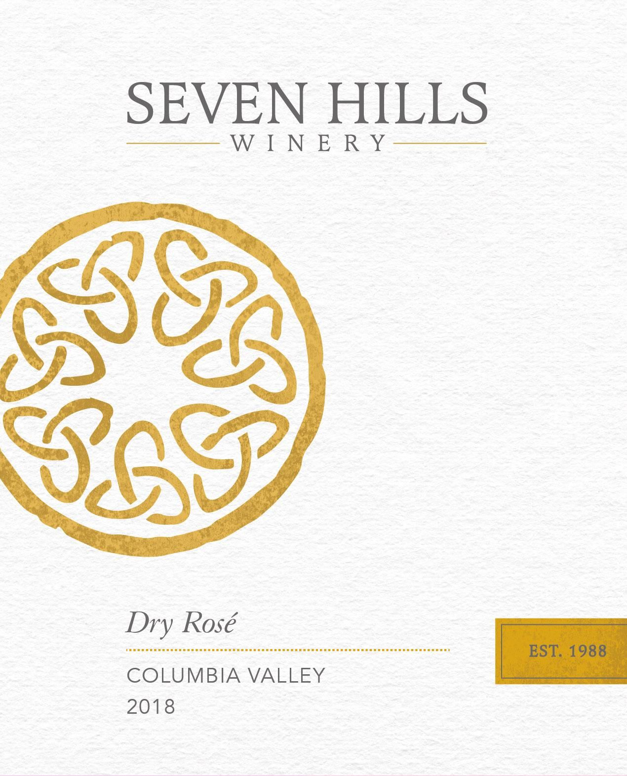Seven Hills Winery Dry Rose 2018  Front Label