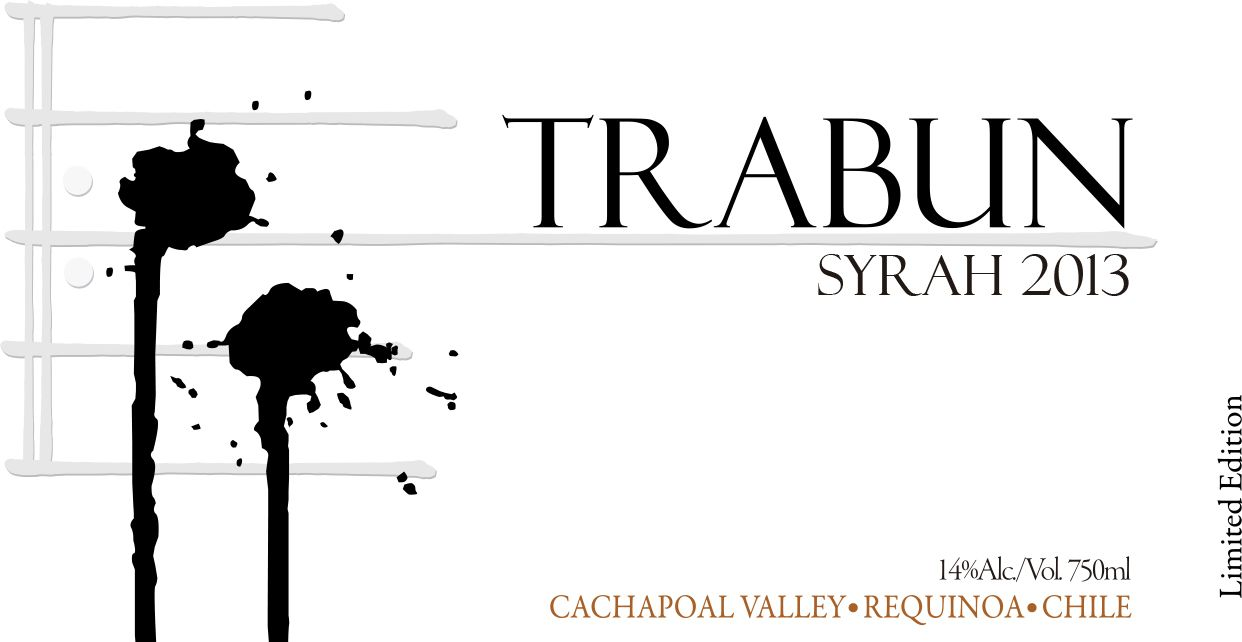 Trabun Requinoa Syrah 2013  Front Label