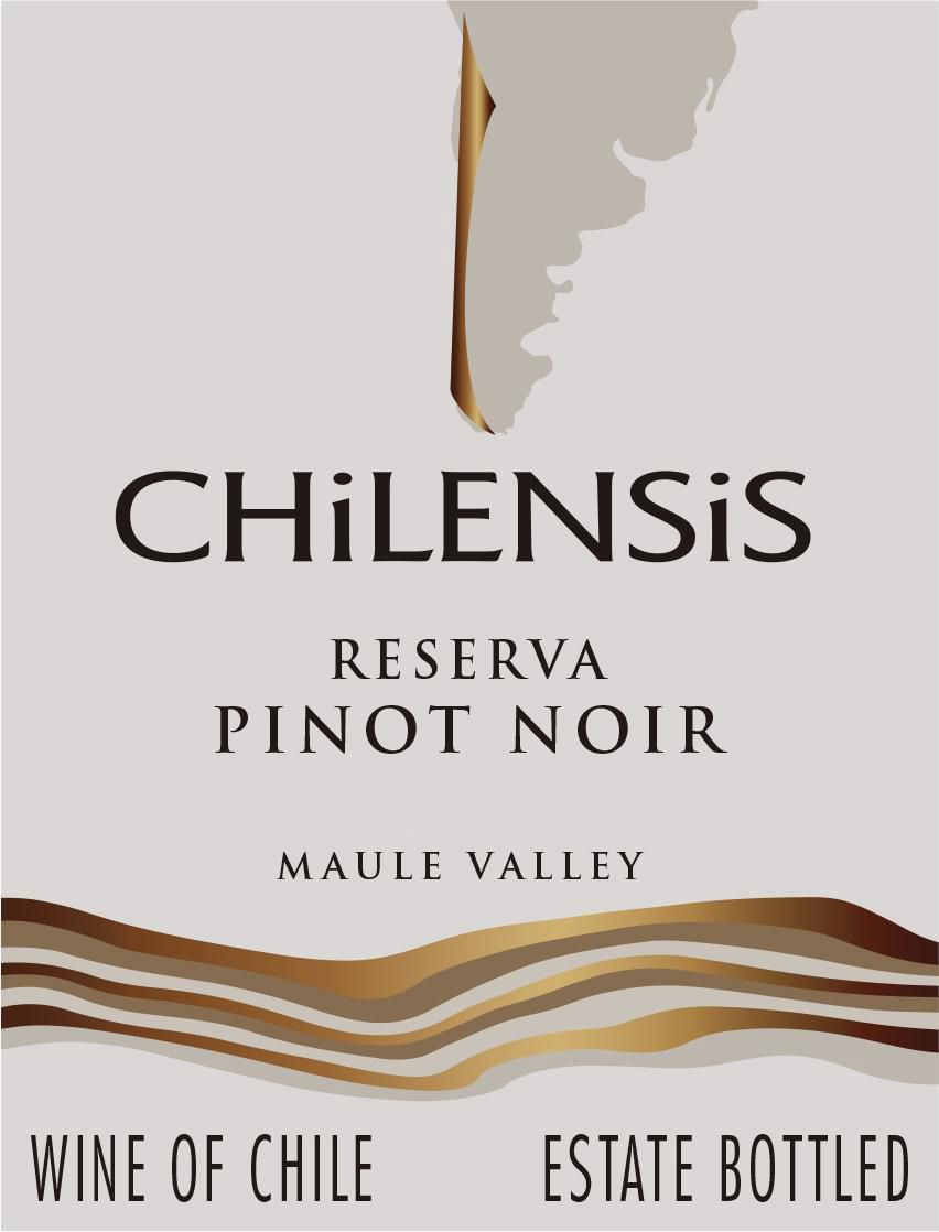 Chilensis Reserva Pinot Noir 2018  Front Label