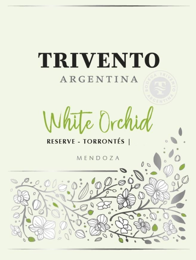Trivento White Orchid Reserve Torrontes 2018 Front Label