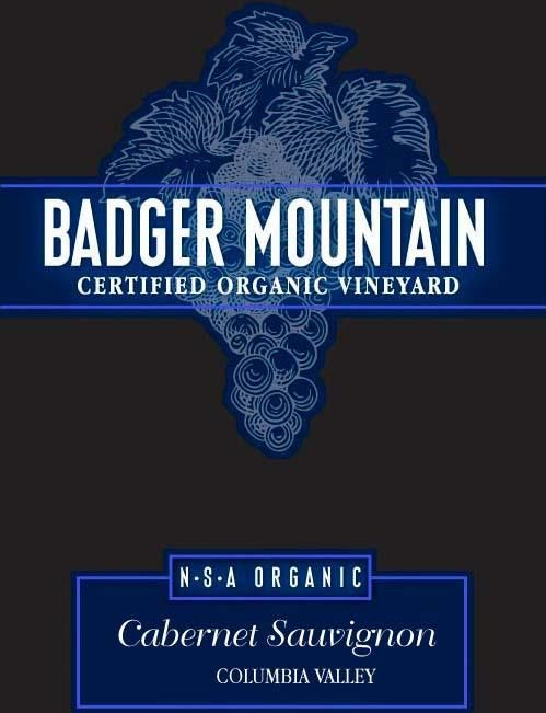 Badger Mountain No Sulfites Added Cabernet Sauvignon 2016 Front Label