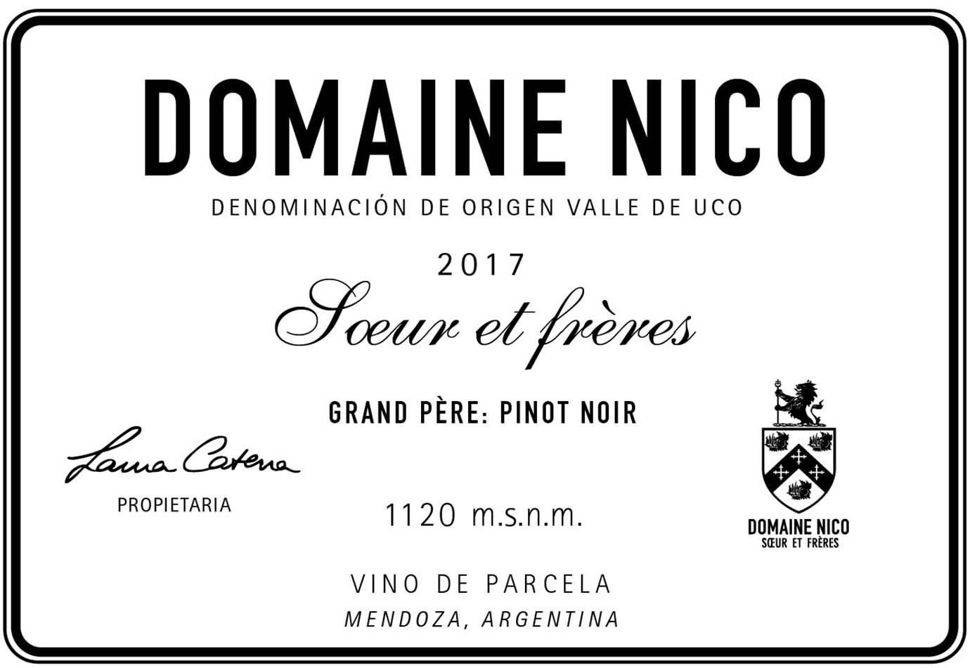 Domaine Nico Grand Pere 2017  Front Label