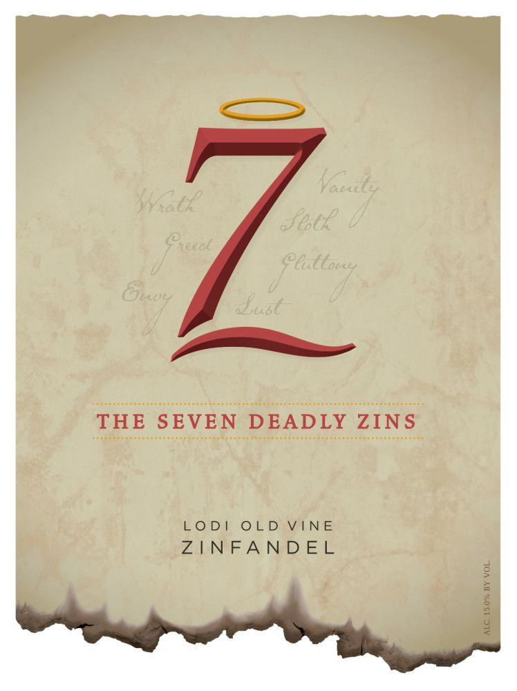7 Deadly Zins Zinfandel 2017  Front Label