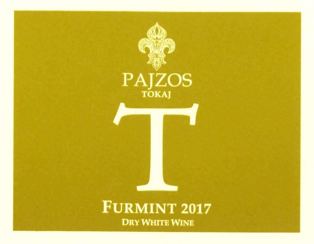 Chateau Pajzos Dry Furmint (500 ML) 2017  Front Label