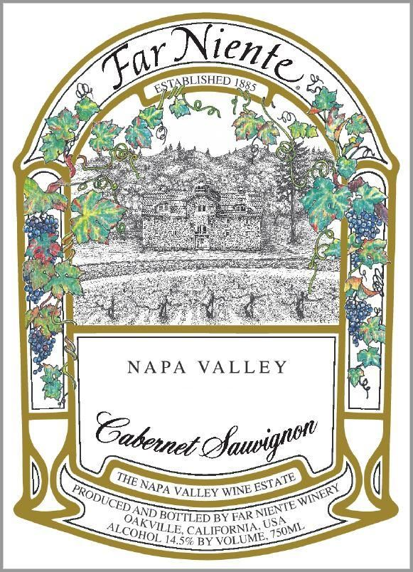 Far Niente Napa Valley Cabernet Sauvignon 2018  Front Label