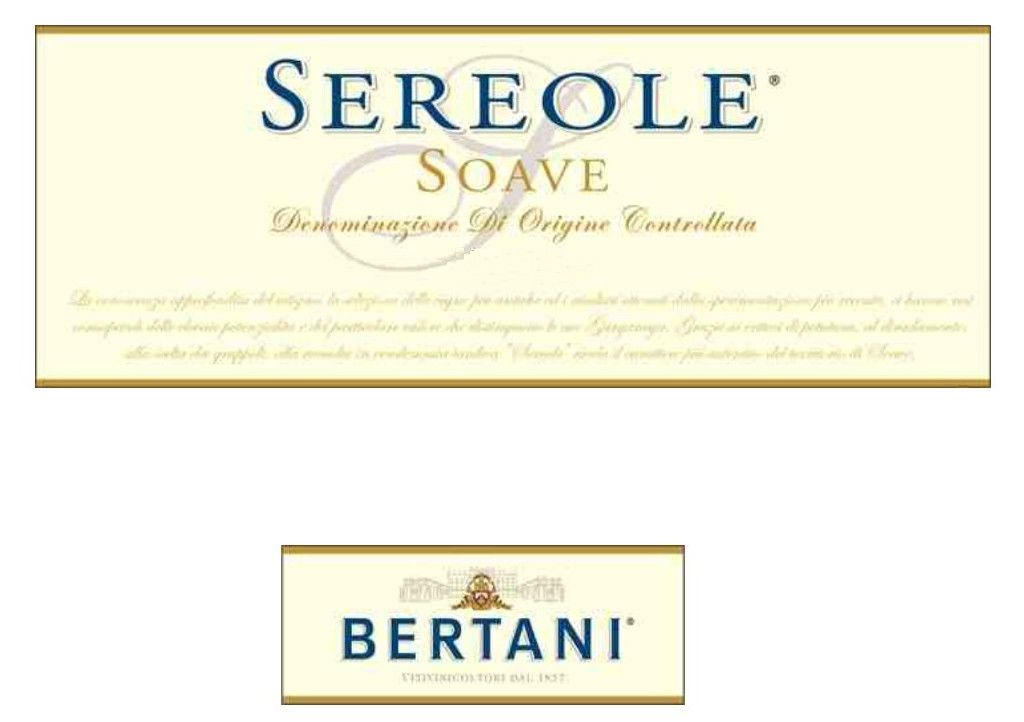 Bertani Sereole Soave 2018  Front Label
