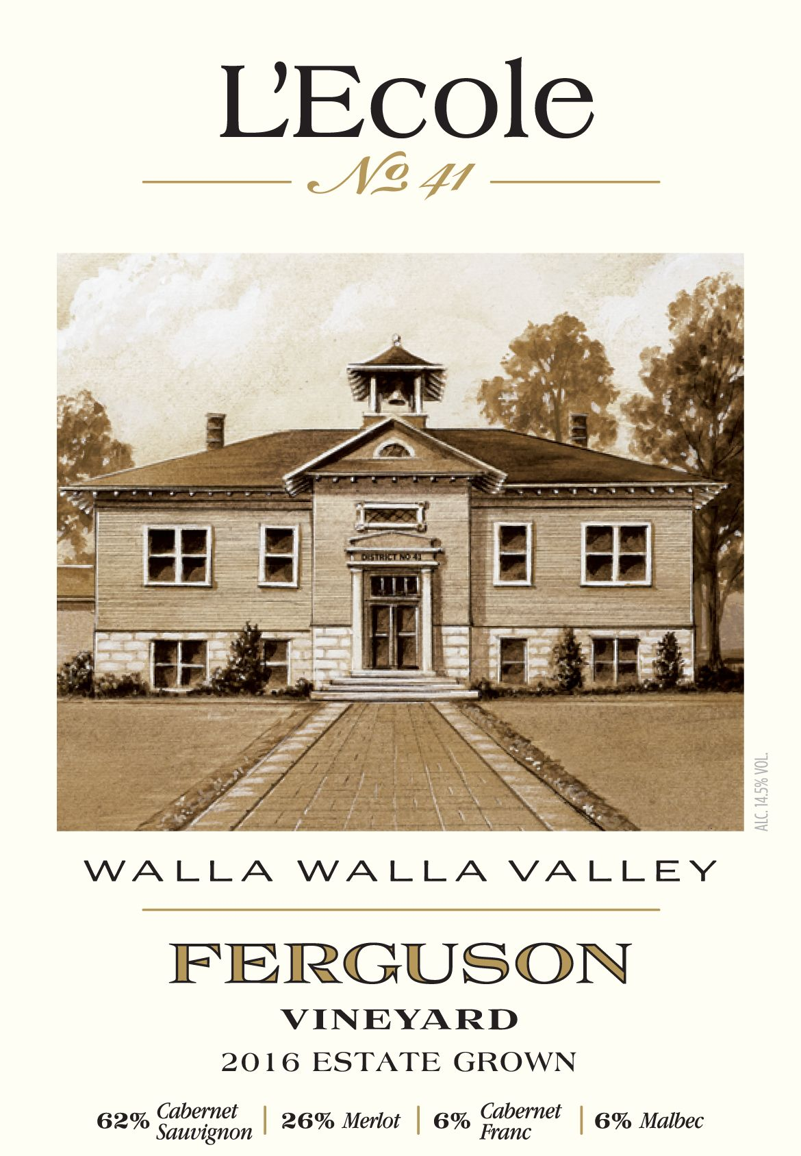 L'Ecole 41 Ferguson Estate Red 2016  Front Label
