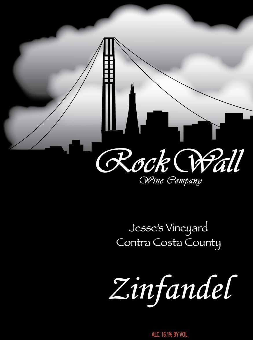 Rock Wall Jesse's Vineyard Zinfandel 2016  Front Label