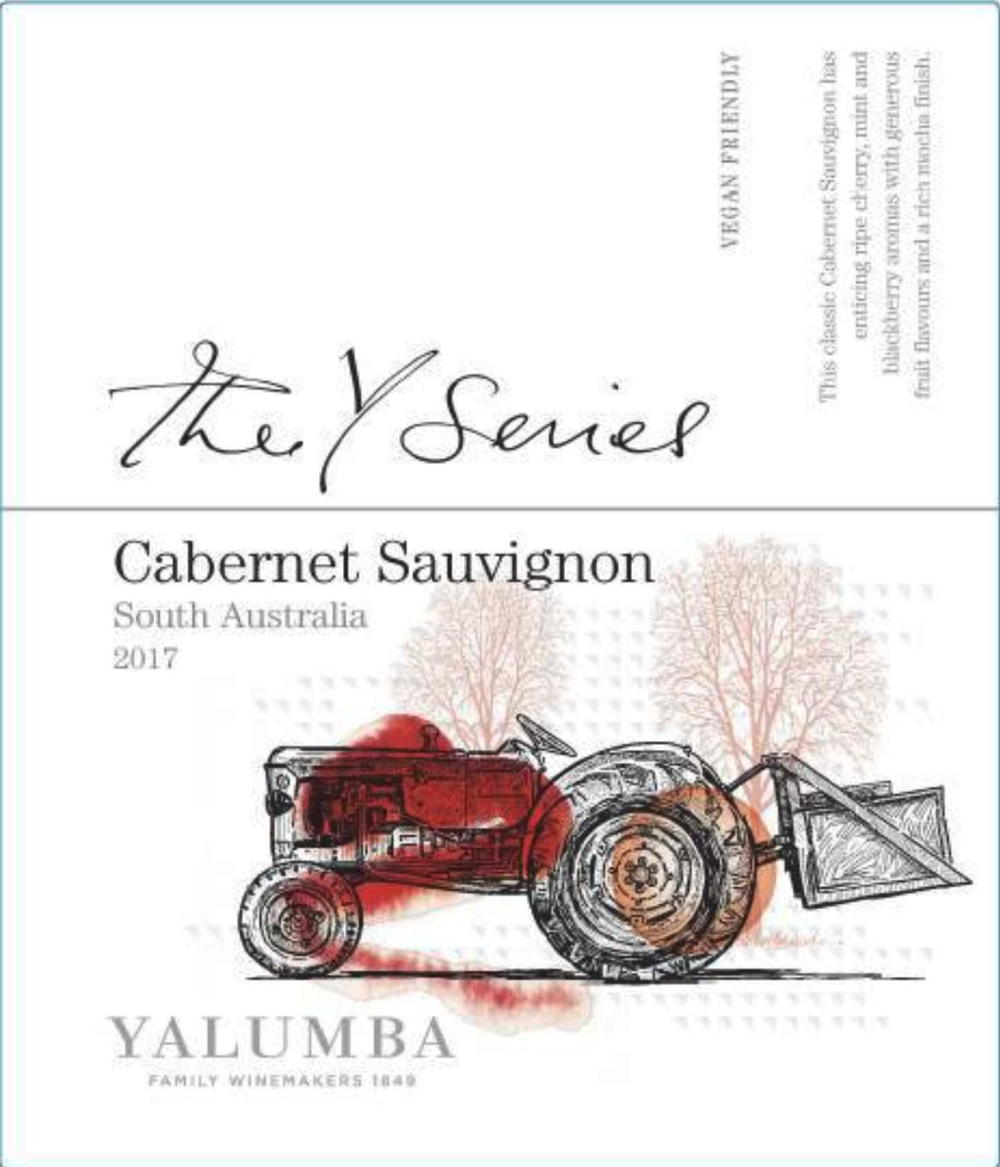 Yalumba Y Series Cabernet Sauvignon 2017  Front Label