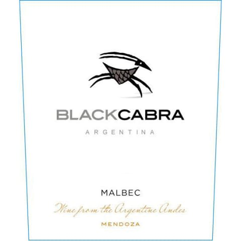 Black Cabra Malbec 2018  Front Label