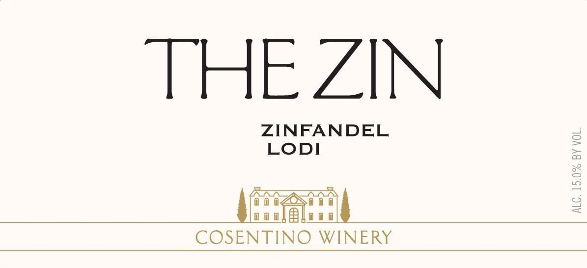 Cosentino The Zin 2017 Front Label