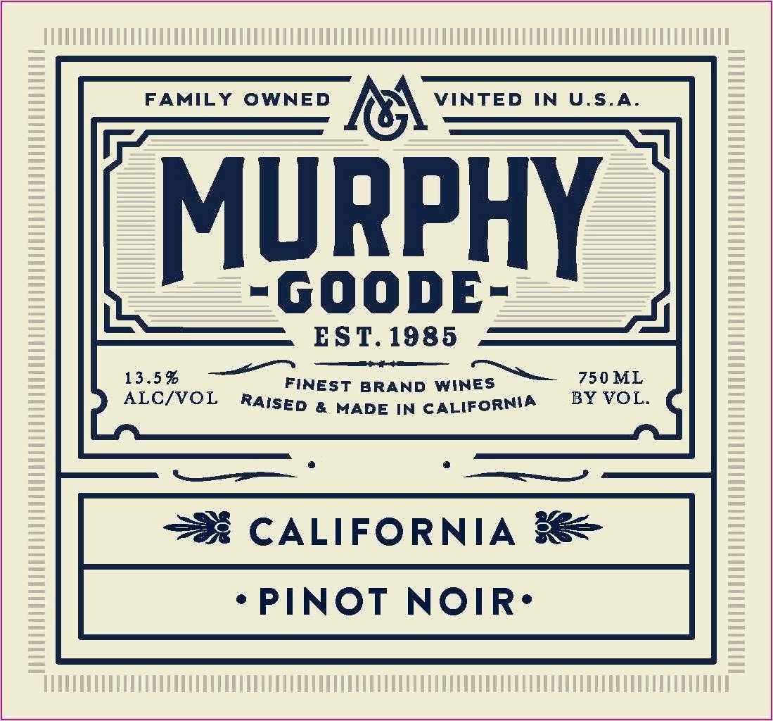 Murphy-Goode California Pinot Noir 2018  Front Label