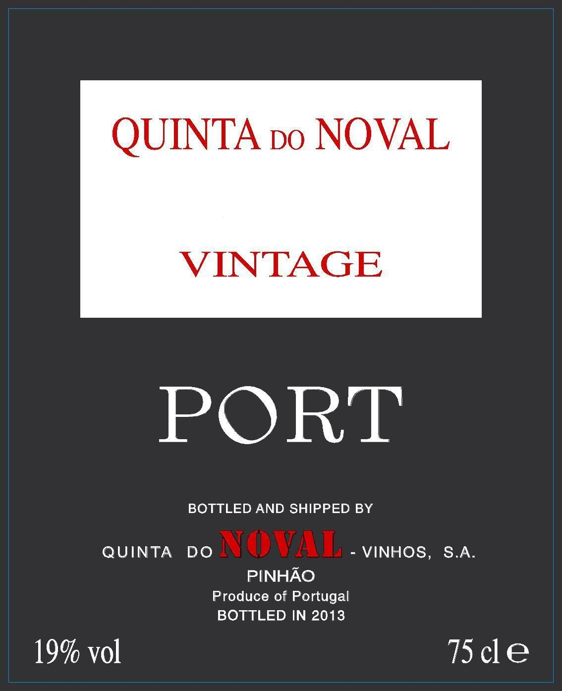 Quinta do Noval Vintage Port 2017  Front Label