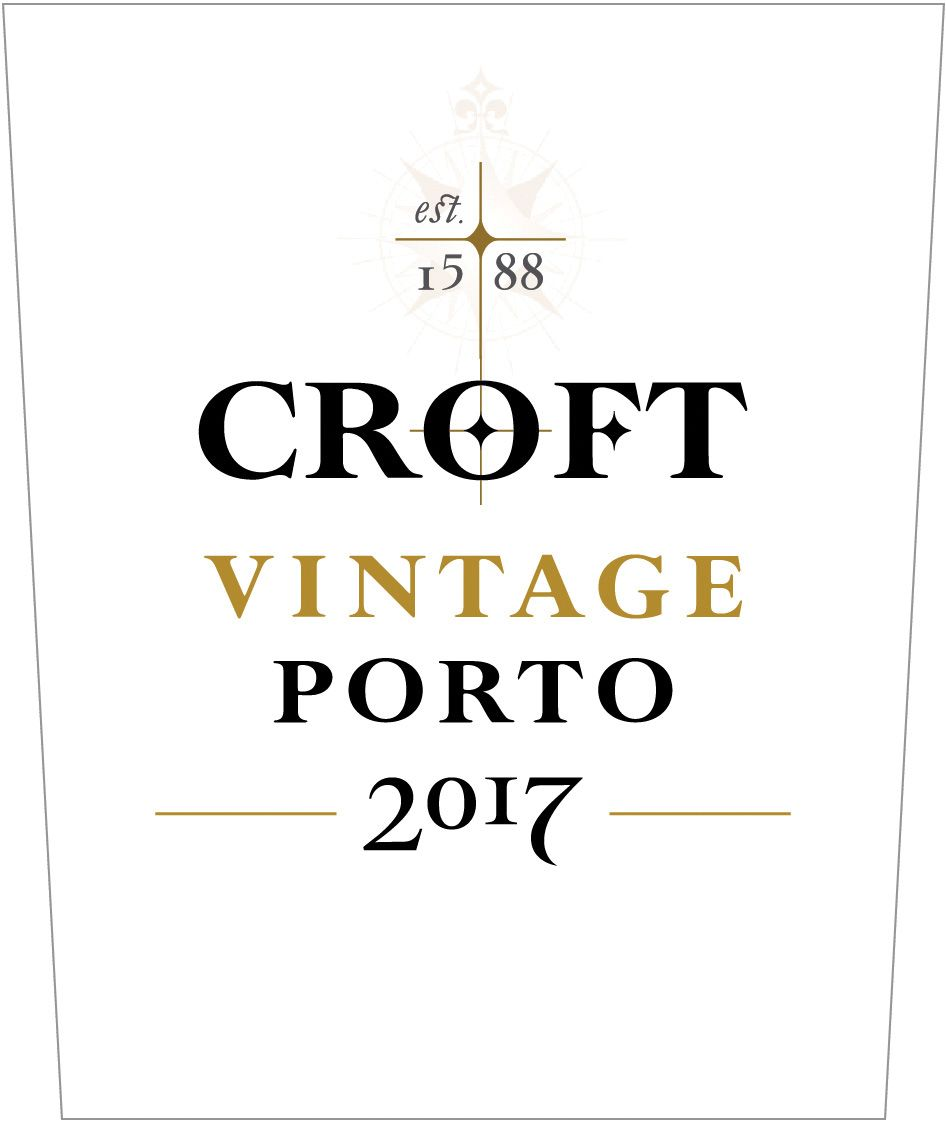 Croft Vintage Port (375ML half-bottle) 2017  Front Label