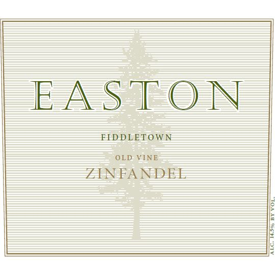 Easton Fiddletown Rinaldi Vineyard Zinfandel 2012  Front Label