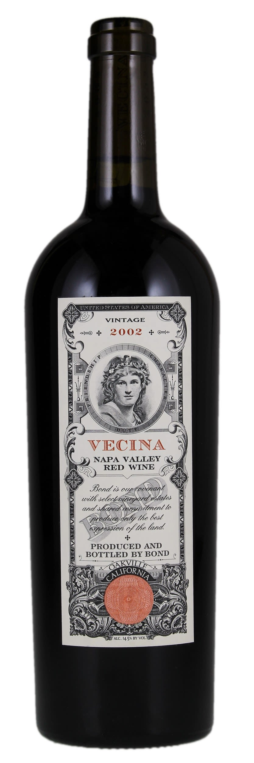 Bond Vecina (slightly torn label) 2002  Front Bottle Shot