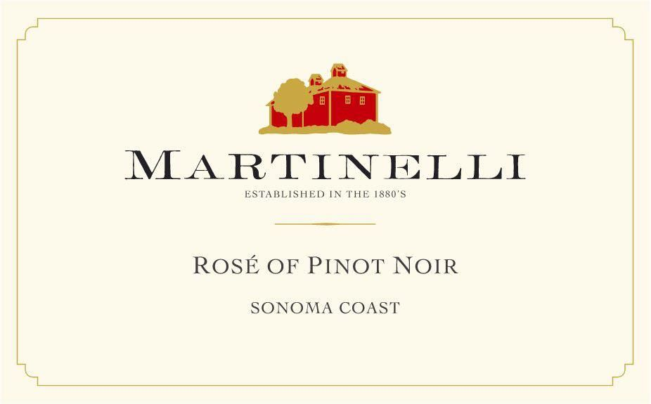 Martinelli Rose of Pinot Noir 2019  Front Label