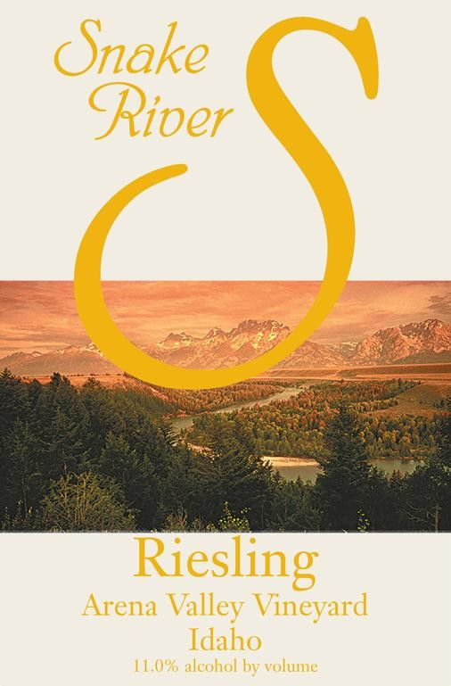Snake River Winery Arena Valley Vineyard Riesling 2010 Front Label
