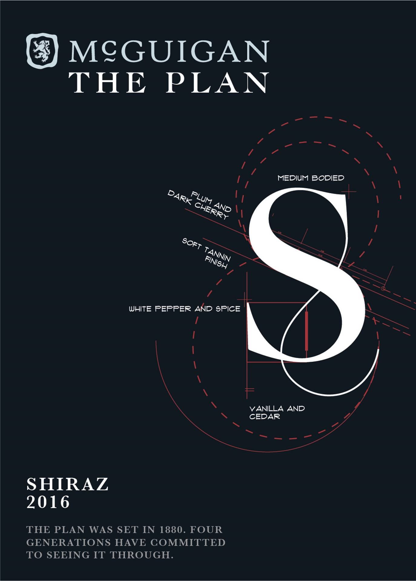 McGuigan Wines The Plan Shiraz 2016  Front Label