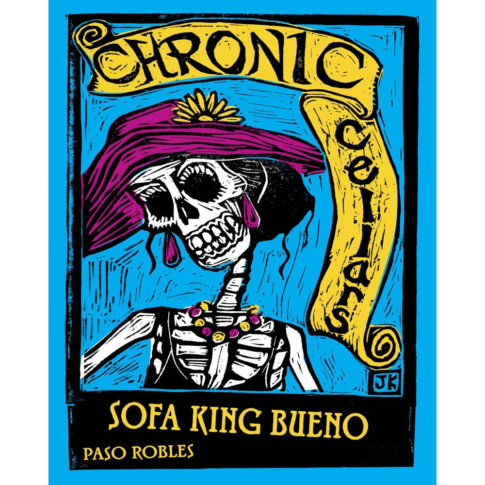 Chronic Cellars Sofa King Bueno Red Blend 2017  Front Label