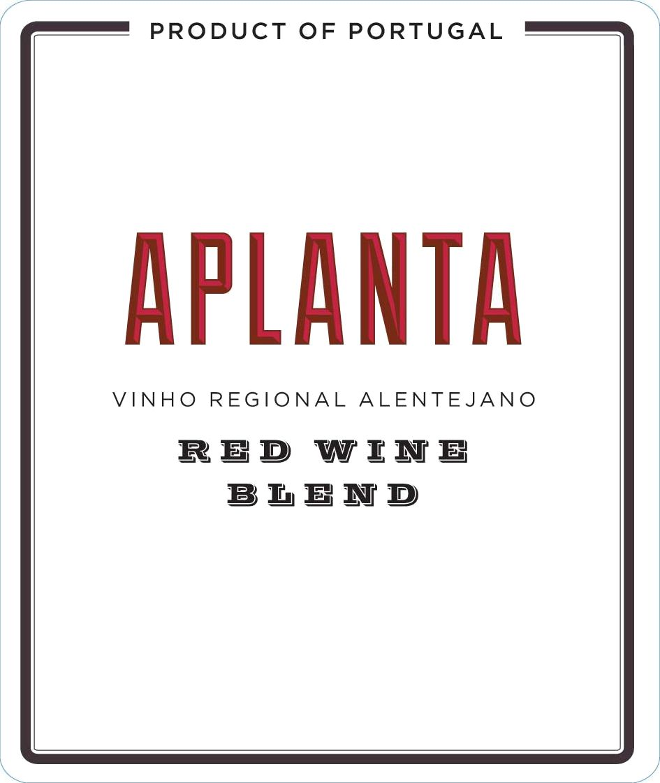 Aplanta Red Blend 2018 Front Label