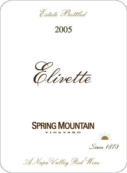Spring Mountain Vineyard Elivette (375ML half-bottle) 2005  Front Label