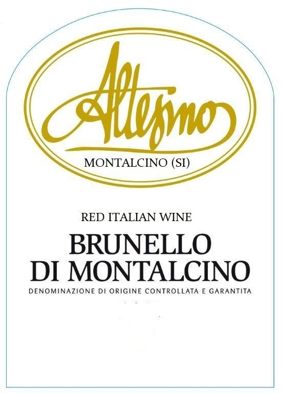 Altesino Brunello di Montalcino (375ML half-bottle) 2013 Front Label