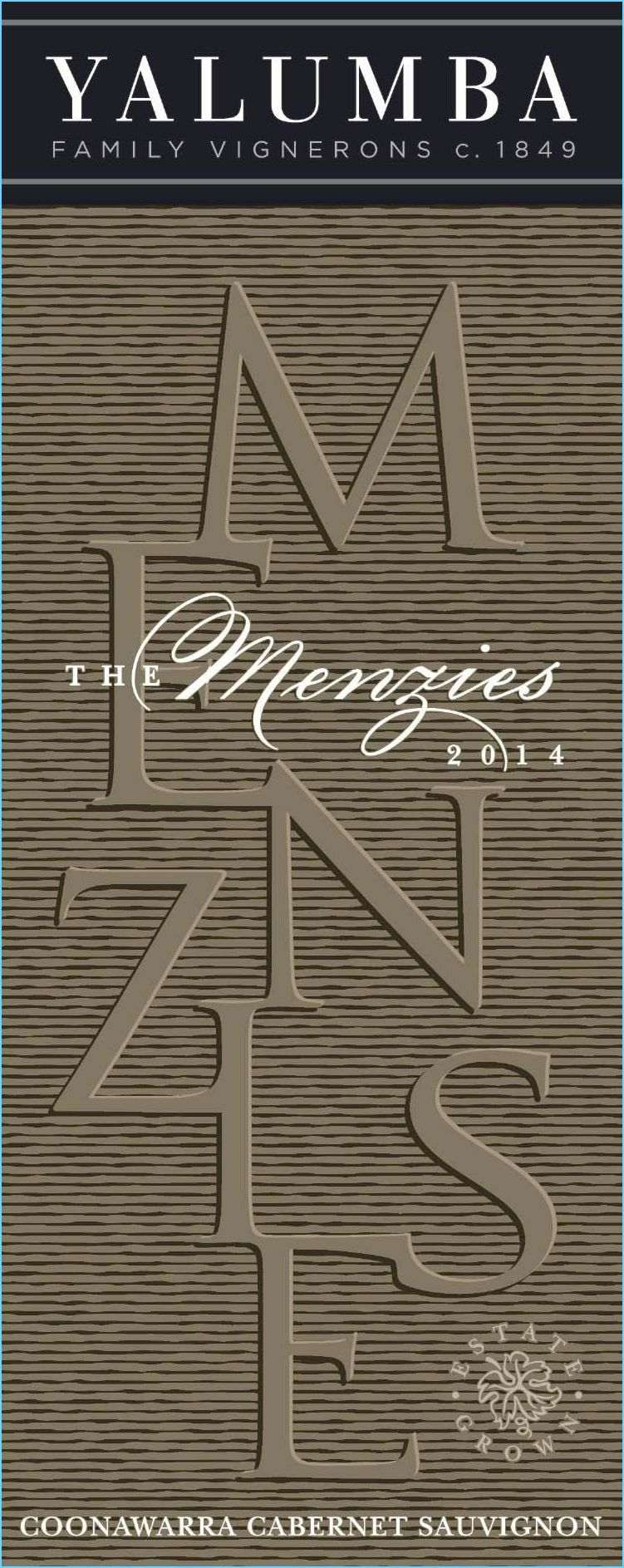 Yalumba The Menzies Cabernet Sauvignon 2014  Front Label