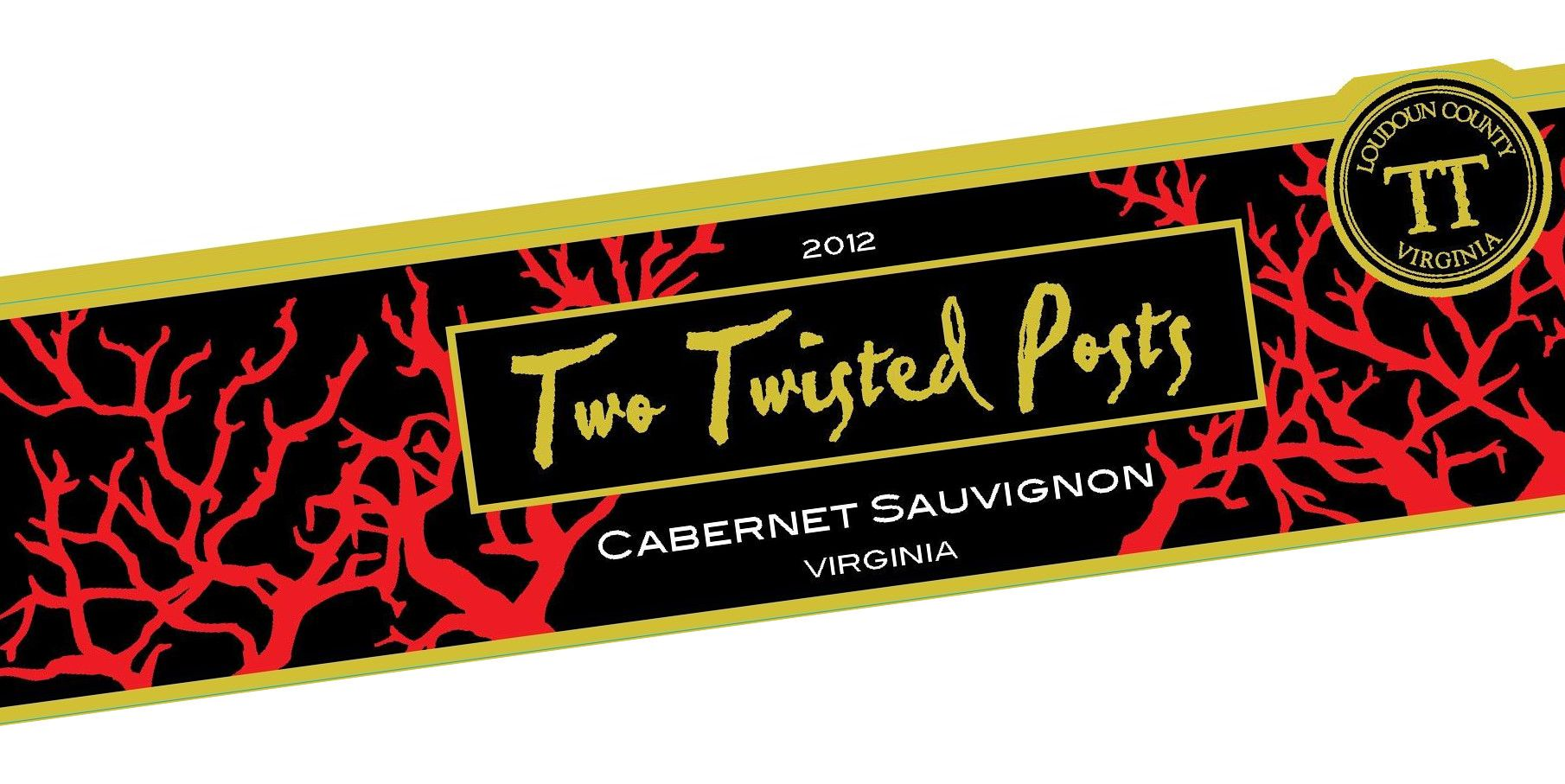 Two Twisted Posts Cabernet Sauvignon 2012 Front Label