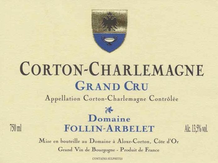 Domaine Follin-Arbelet Corton-Charlemagne Grand Cru 2011  Front Label