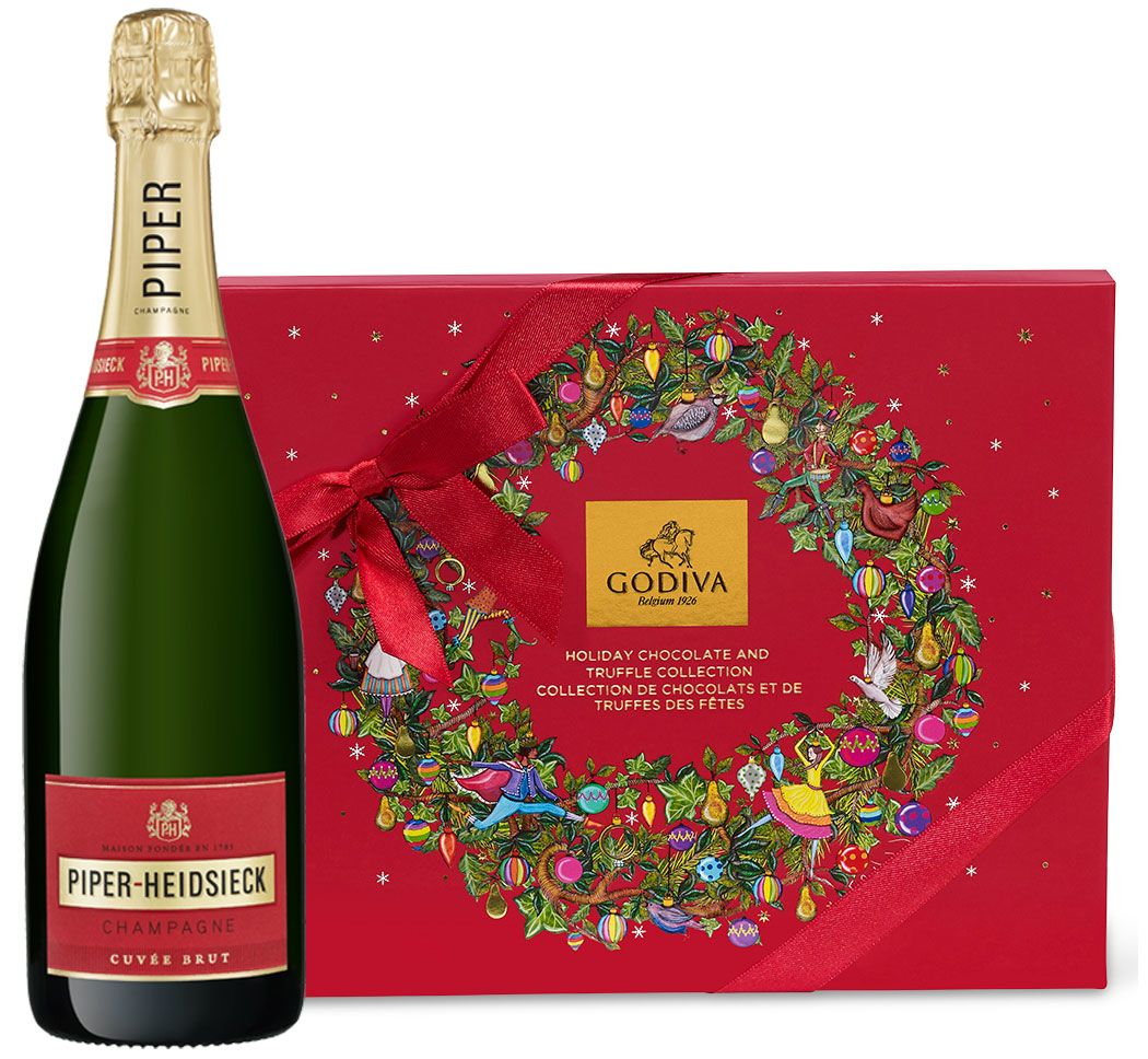 wine.com Piper-Heidsieck & Godiva Holiday Gift Set  Gift Product Image