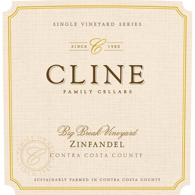 Cline Big Break Zinfandel 2016  Front Label