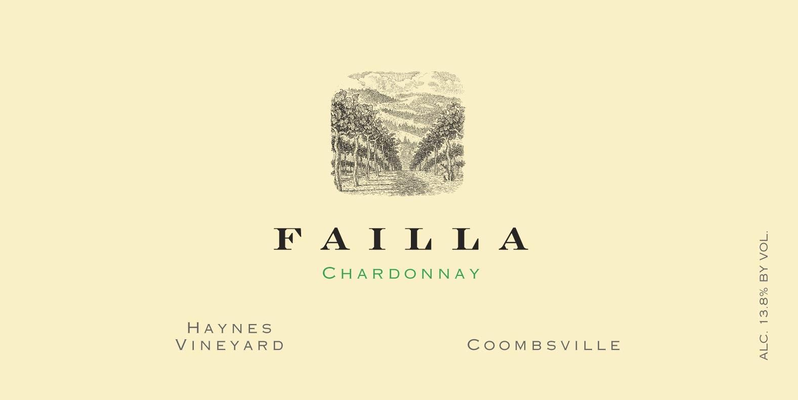 Failla Haynes Vineyard Chardonnay 2017 Front Label