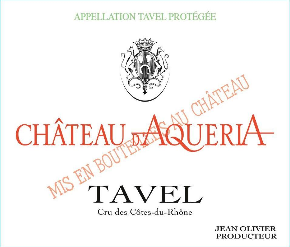 Chateau D'Aqueria Tavel Rose 2019  Front Label