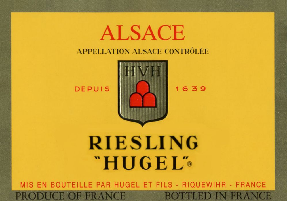 Hugel Riesling 2016 Front Label