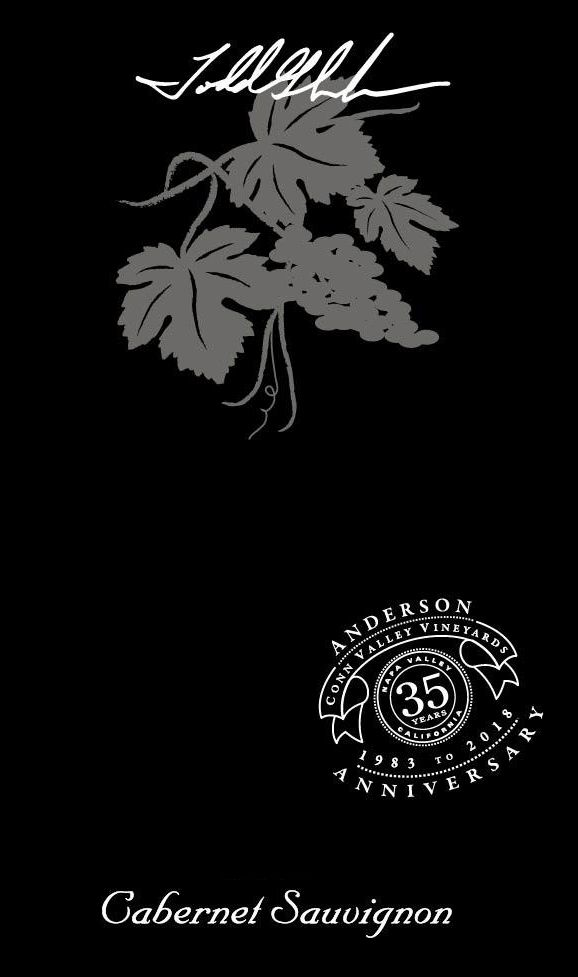 Anderson's Conn Valley Vineyards Napa Valley Cabernet Sauvignon 2018  Front Label